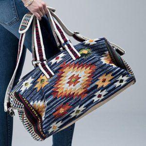 New Aztec Navajo Western Weekender Tote Bag Duffle